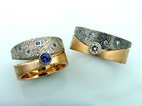 Starry Nite Wedding Set In Diamonds Or Shires